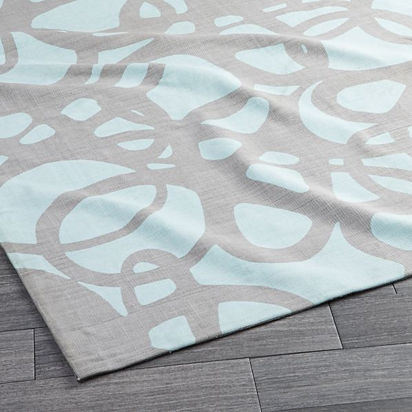 Crate And Barrel Bath Rugs: Mallorca Light Aqua Rug
