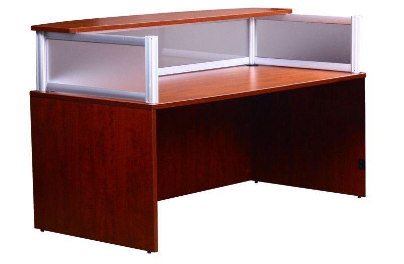 Boss Office Products N269G-C Plexiglass Reception Desk, Cherry