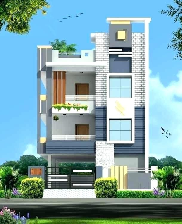 Modern House Front View Design Normal Elevation Designs In