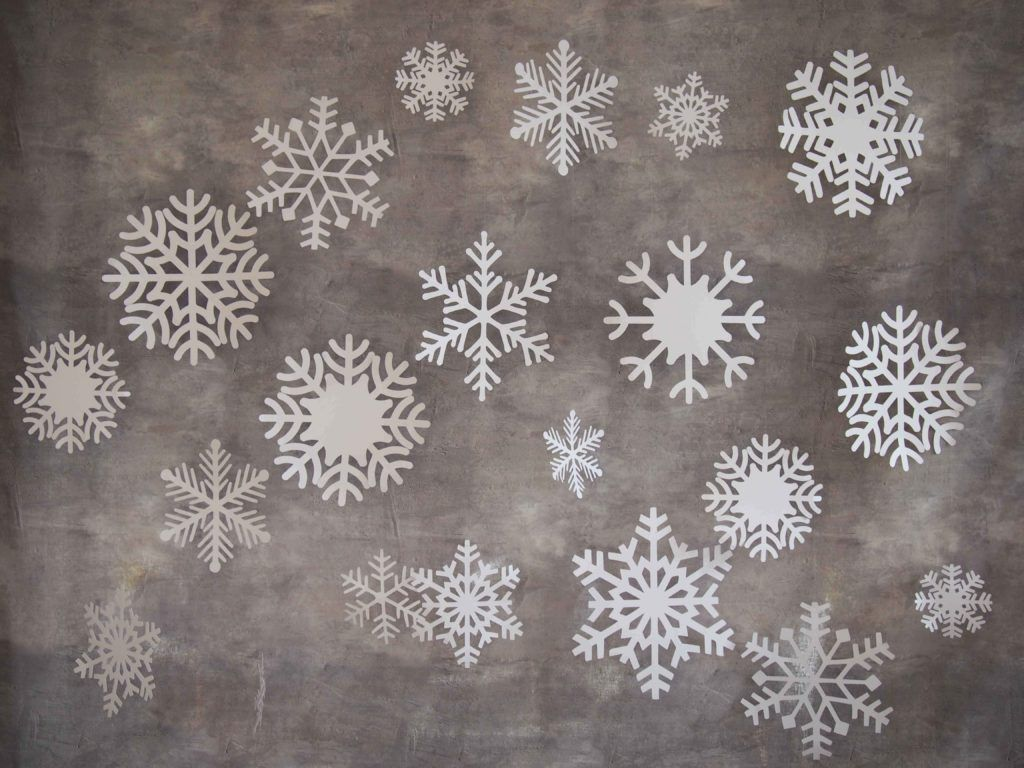 Mes flocons de neige en papier