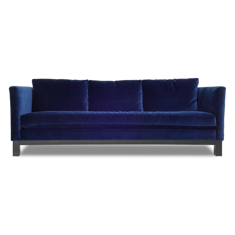 I'm loving the idea of a navy velvet sofa lately  Cobble Hill Prescott Sofa