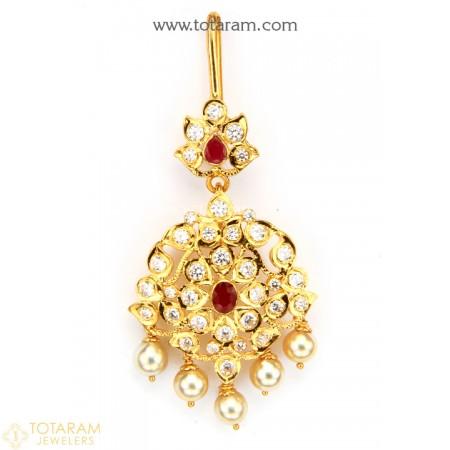 Teeka Bollywood Bridesmaid Gift Hot Pink Stone Tikka w Earring Set-Indian Bridal Maang Tikka Tika Headpiece-Handmade Jewelry Set For Her