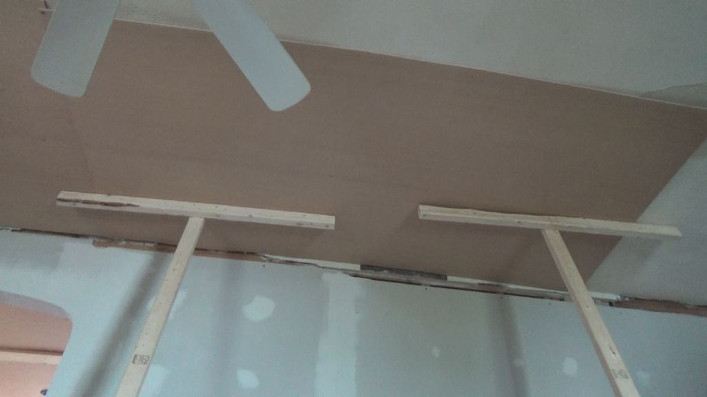 Ditch The Drywall Hanging Plywood Ceiling Panels Plywood Ceiling Ceiling Panels Hanging Drywall