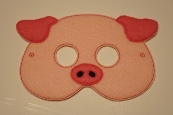 Cute Pig felt embroidered mask by LifeintheFassLane on Etsy