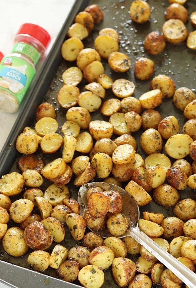 3 Ingredient Crispy Oven Baked Garlic Ranch Potato