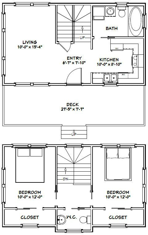 28x16 tiny house 28x16h1 821 sq ft excellent floor plans - Tiny House Layout Ideas