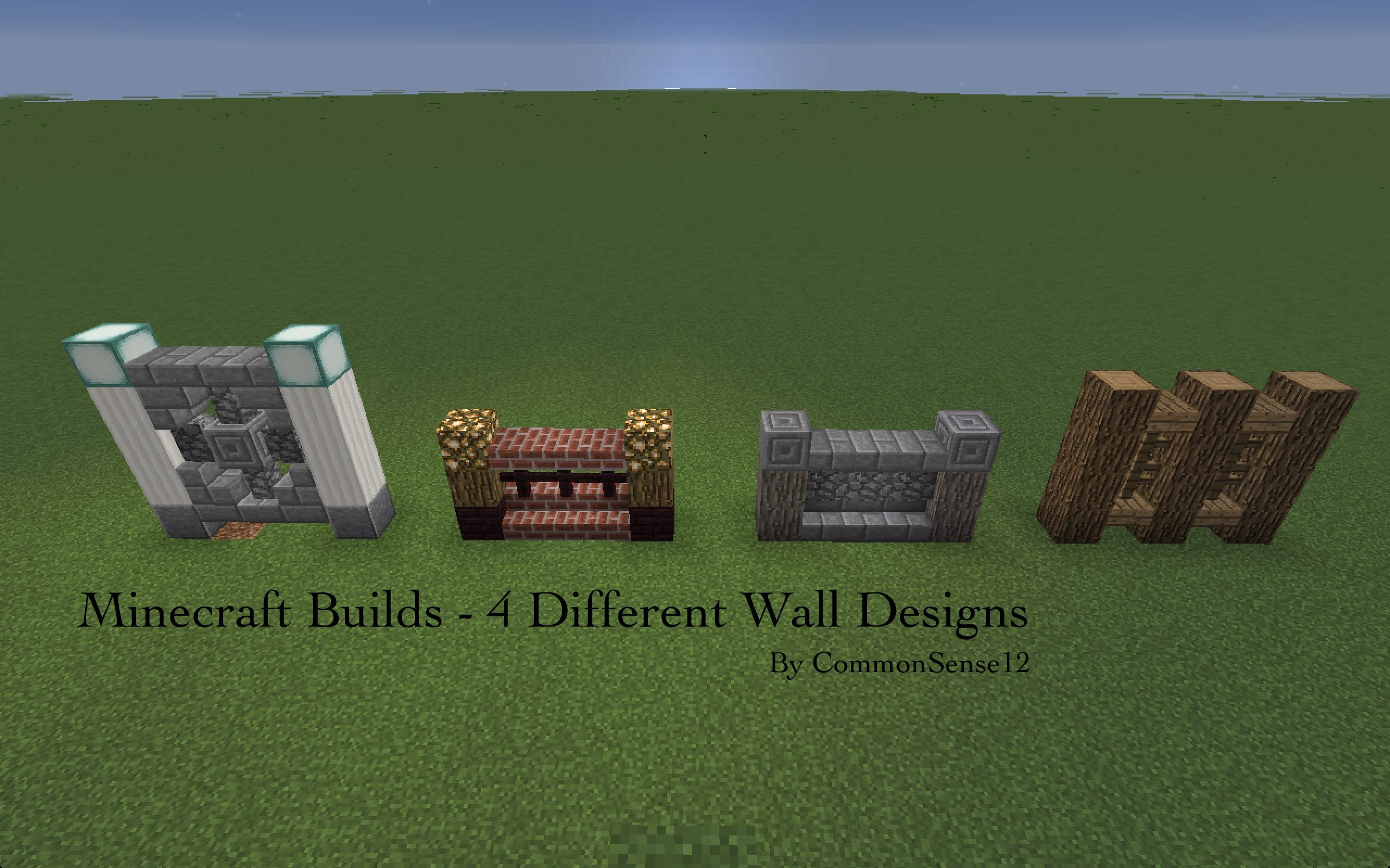 Décoration Intérieur Minecraft Minecraft Builds 4 Different Wall Designs Youtube Art