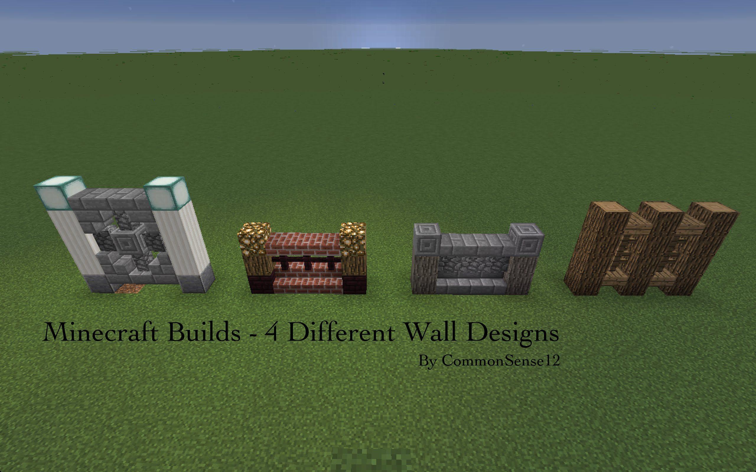 Minecraft Builds 4 Wall Design Art