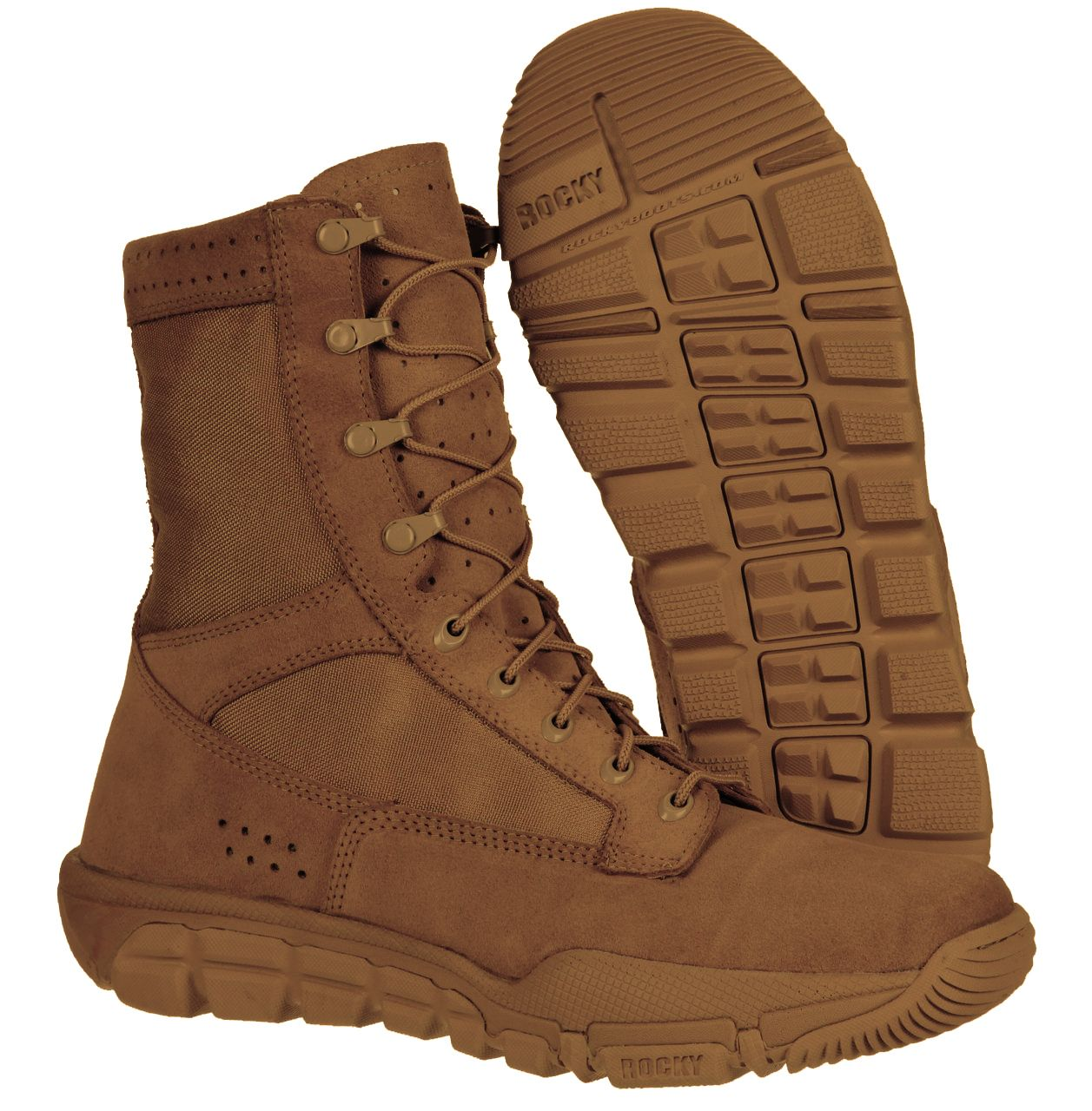 Rocky C6 RLW AR670-1 Compliant Boots (Coyote) RKC042 | Patriots ...