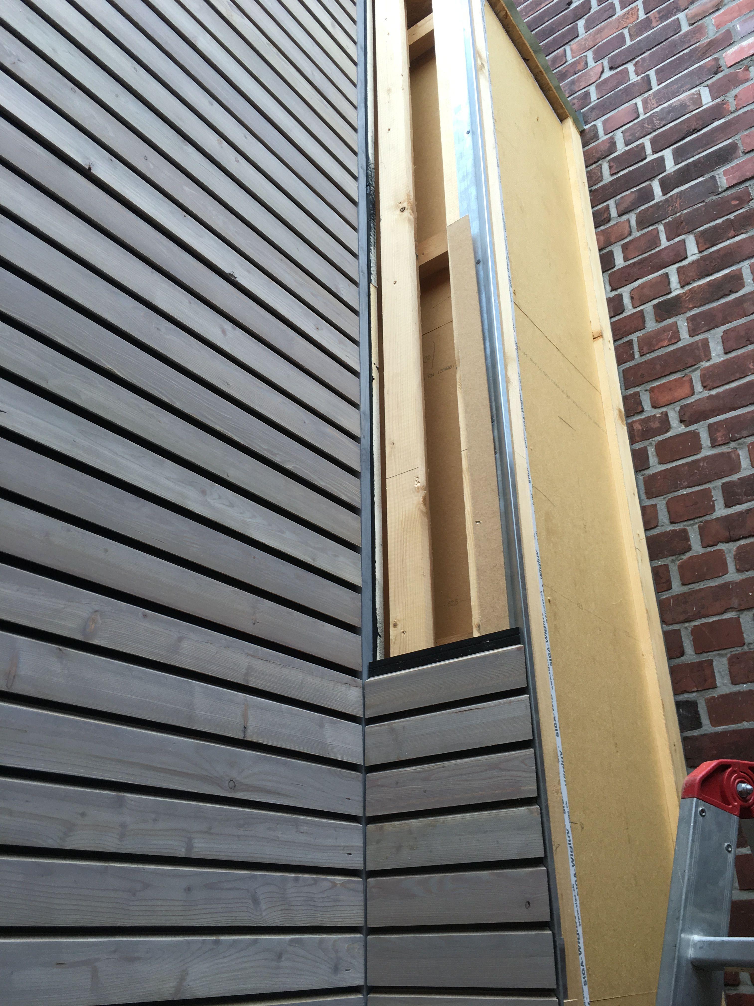 Fassade - vorvergraut   Holzfassade - wood cladding in ...