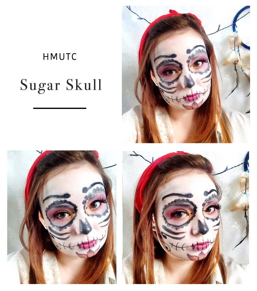 Halloween Make Up Tutorial Challenge: Sugar Skull | THERE YOU ARE SIBBY