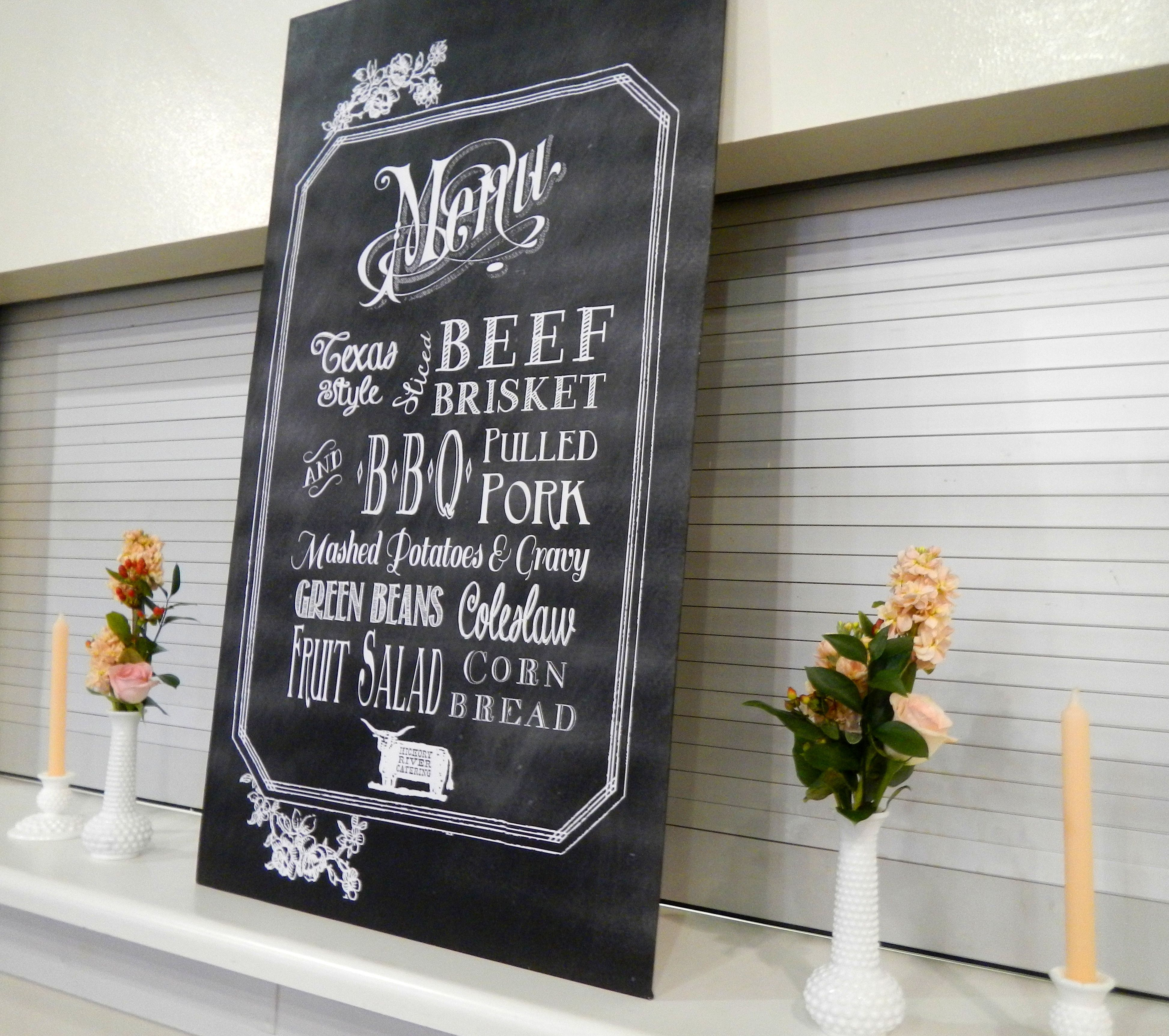 Chalkboard Wedding Menu Free Template