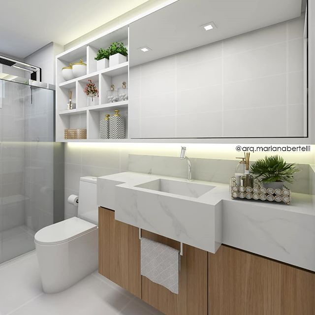 Pin De Rayza Arpini Abreu Em Banheiro Em 2020 Banheiro Pequeno