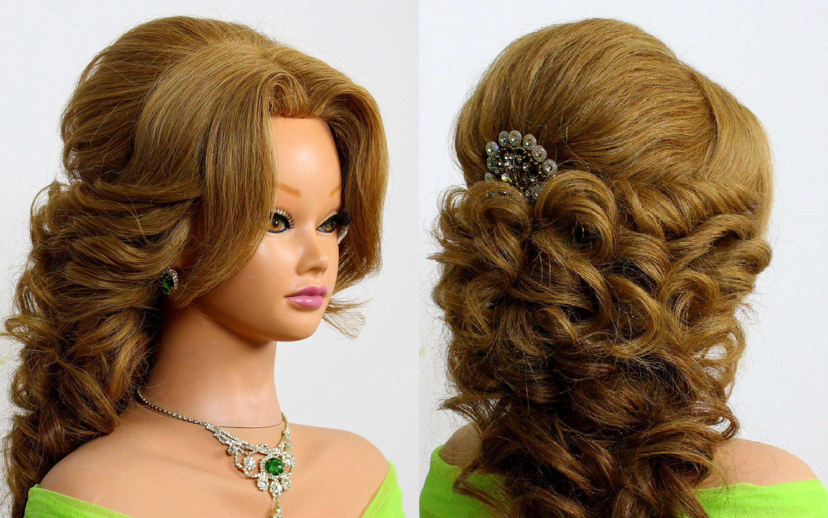 arabic wedding hairstyle for long hair. tutorial | skin
