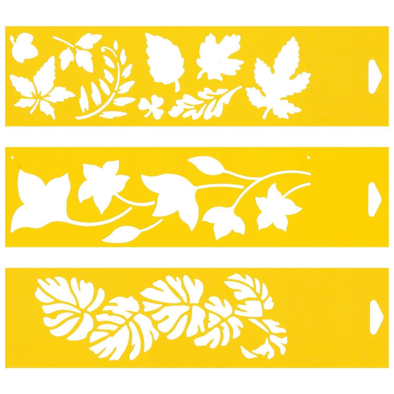 30cm x 8cm juego de 3 stencil plantilla pl stico - Plantillas de decoracion ...