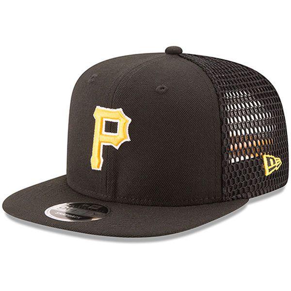 747855613 Men s Pittsburgh Pirates New Era Black Mesh Fresh 9FIFTY Adjustable ...