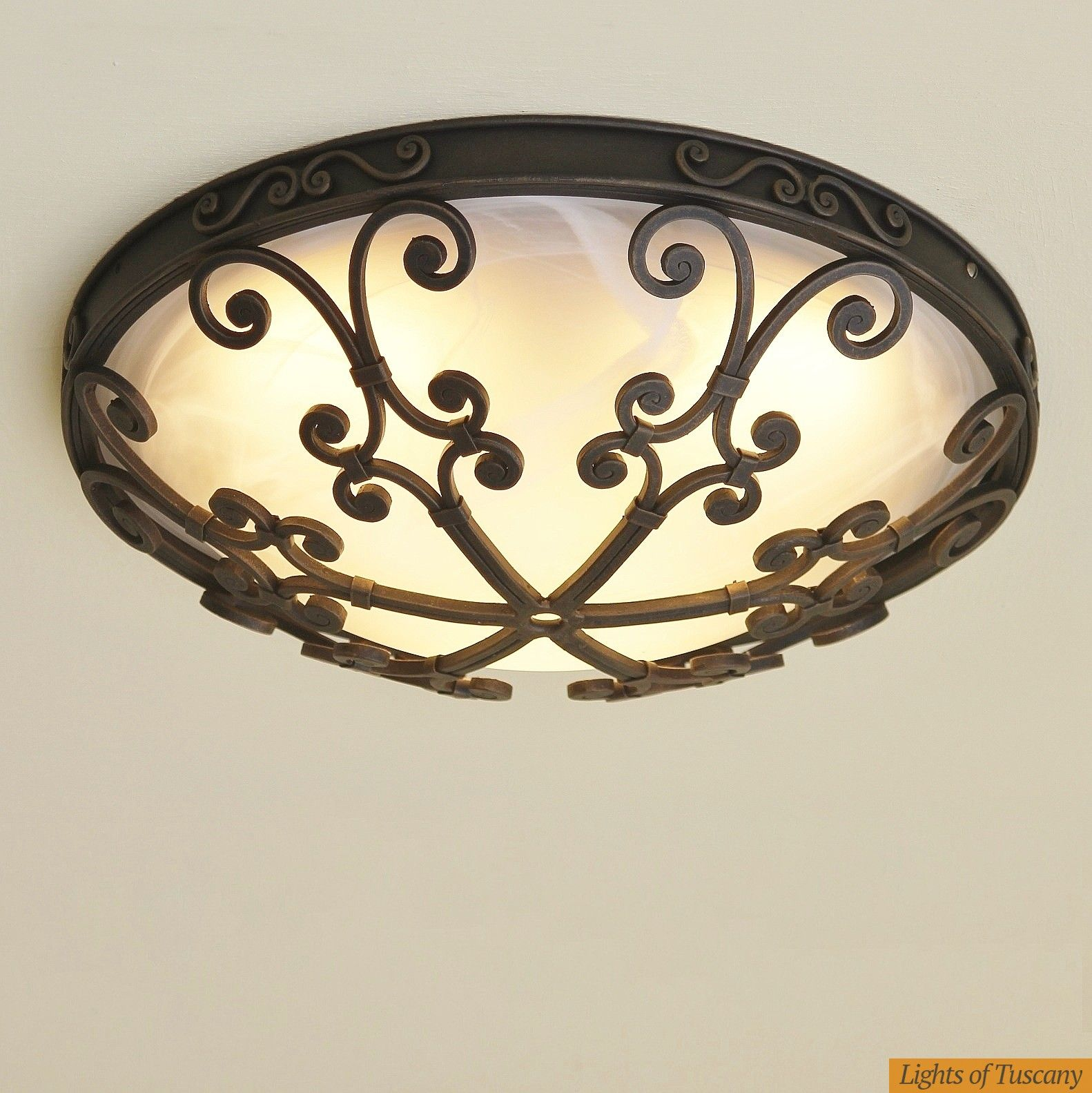 Spanish Style Ceiling Flush Mount Lighting Fixture Cerros