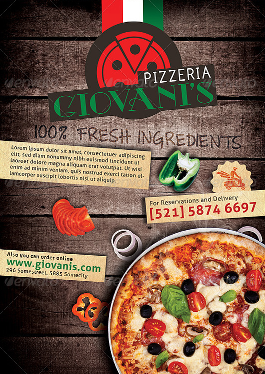 20 Best Pizza Restaurant Flyer PSD Templates – Restaurant Flyers Templates