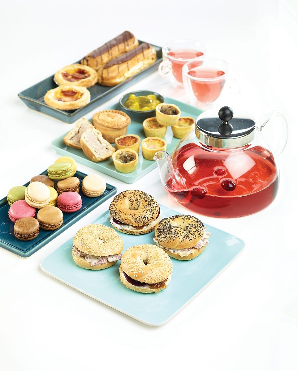 A quirky afternoon tea, using quirky Purple Pineapple sandwich fillings.