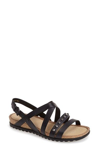 ECCO 'Dagmar' Leather Sandal (Women) available at #Nordstrom