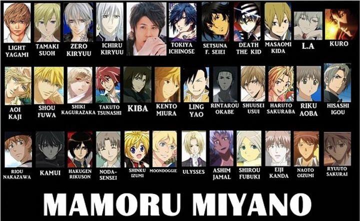 Mamoru Miyano Anime Roles