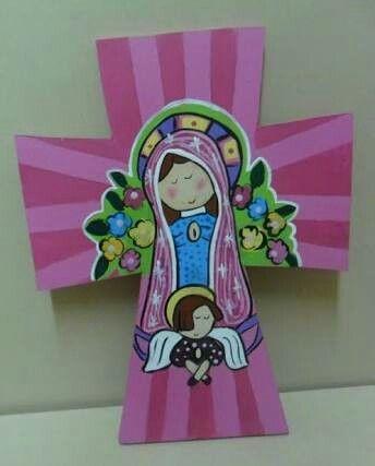 Recuerdos De Bautizo Cruz De Madera.Pin De Patricia Yamunaque En Virgen De Guadalupe Cruces De