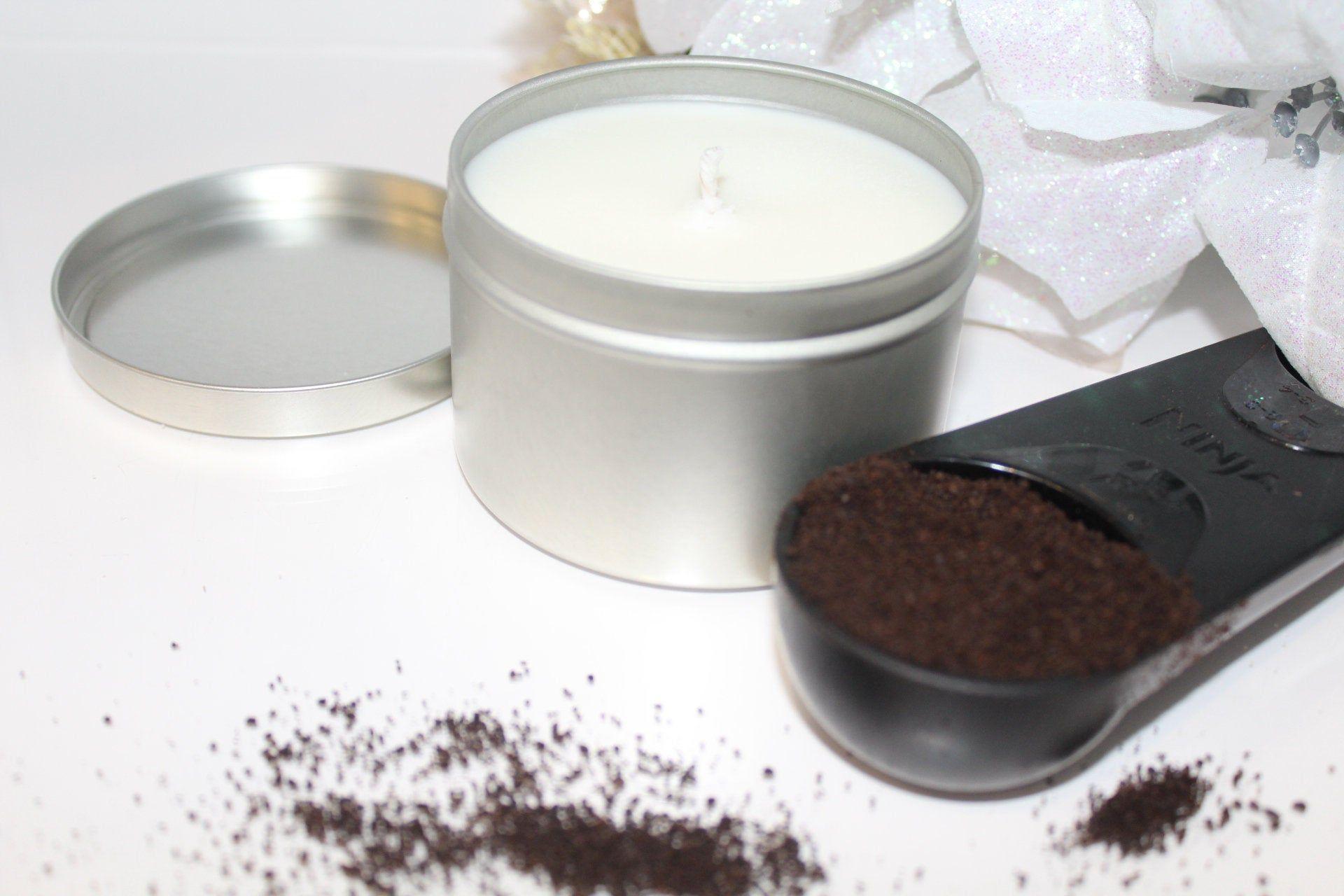Irish Cream Coffee Soy Candle, Tin Candle 8oz, Coffee