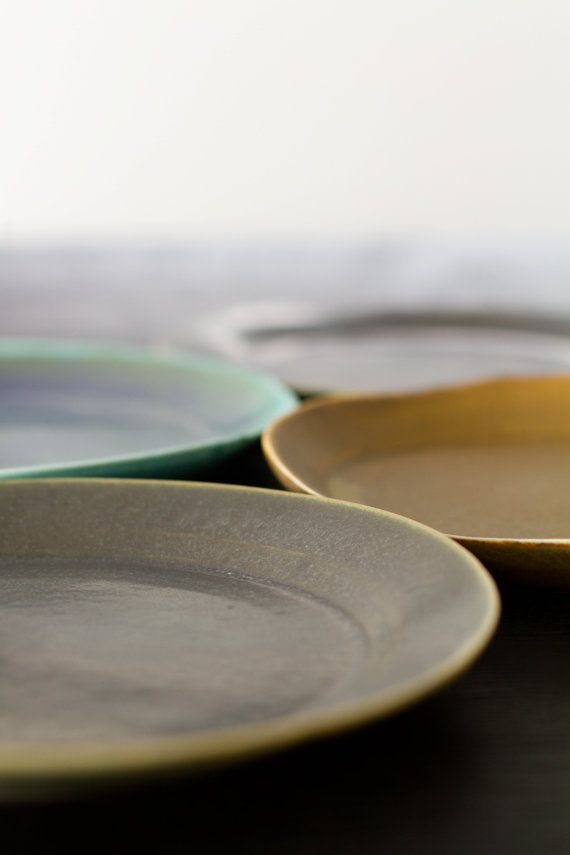 Slab Plates colors by acceramics on Etsy, $22.00