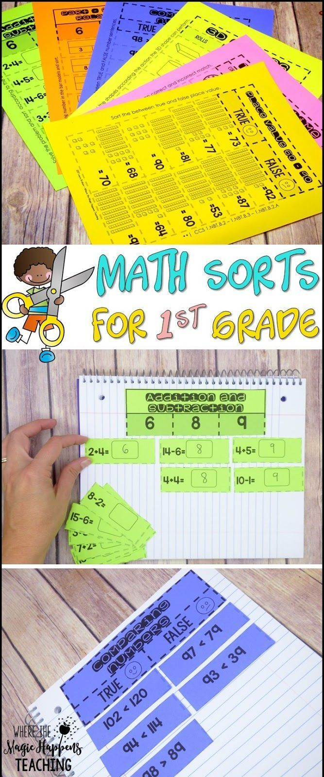 Math Sorts for First Grade | Math sorting activities, Build math ...