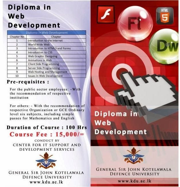 Diploma In Web Development Sri Lankan Higher Education Institute Resources Web Development Training Web Development Development