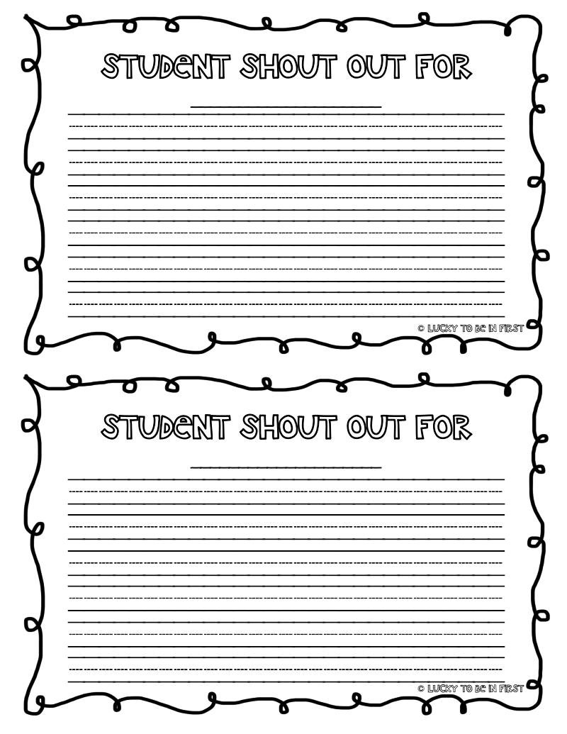 Student Shout Out Pdf Google Drive Classroom Encouragement School Counseling Printables Student Motivation