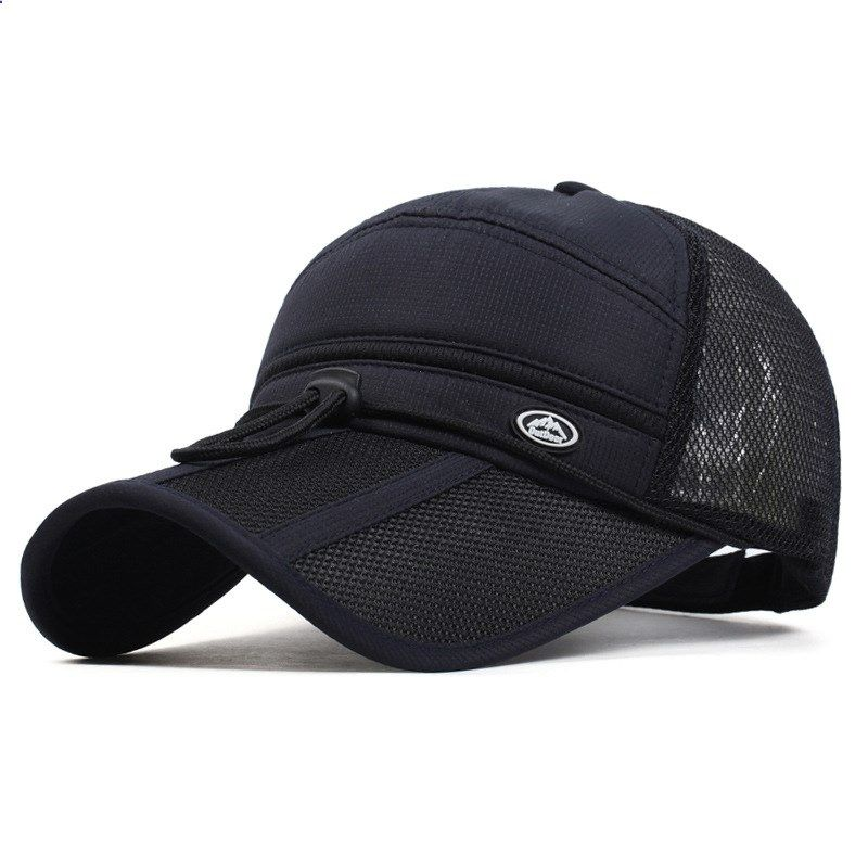 2017 Quick Dry Unisex baseball caps motorcycle cap golf hat men women Long  visor casual summer 62a7190b5e08