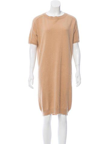 29e3aae9a21 Camel Chloé cashmere sweater dress with dolman three-quarter sleeves