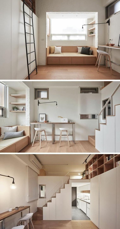 Interior design haus 2018 kleines loft mit einem gro en for Dekor wohnungen