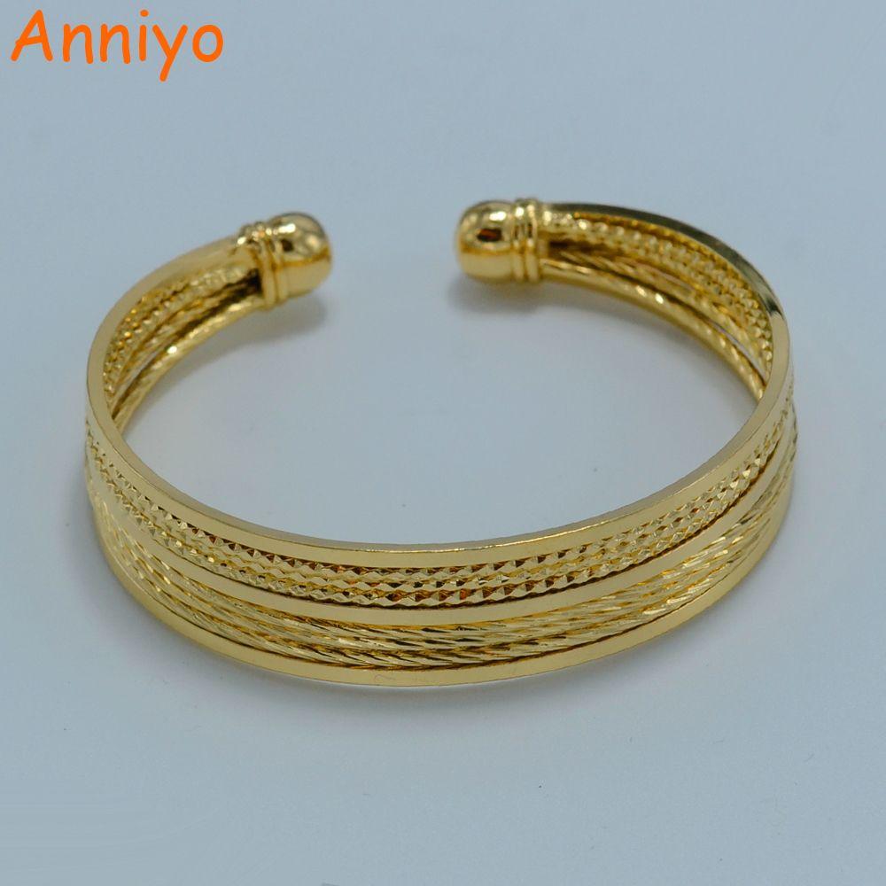Anniyo arab bangle for women gold color jewelry fashion bracelet