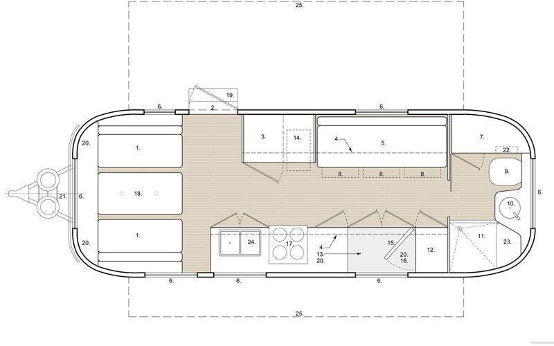 Airstream Blueprint Airstream Renovation Airstream Trailers Trailer Home