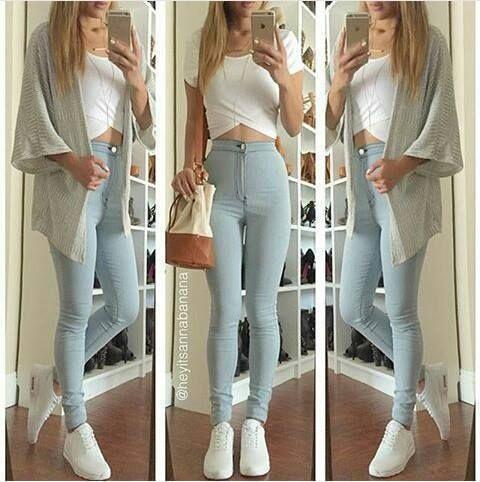 Jeans Tiro Alto Ropa Ropa De Moda Ropa Tumblr