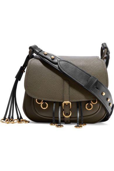 56ba6f12bc19 PRADA Corsaire Embellished Leather Shoulder Bag.  prada  bags  shoulder bags   leather