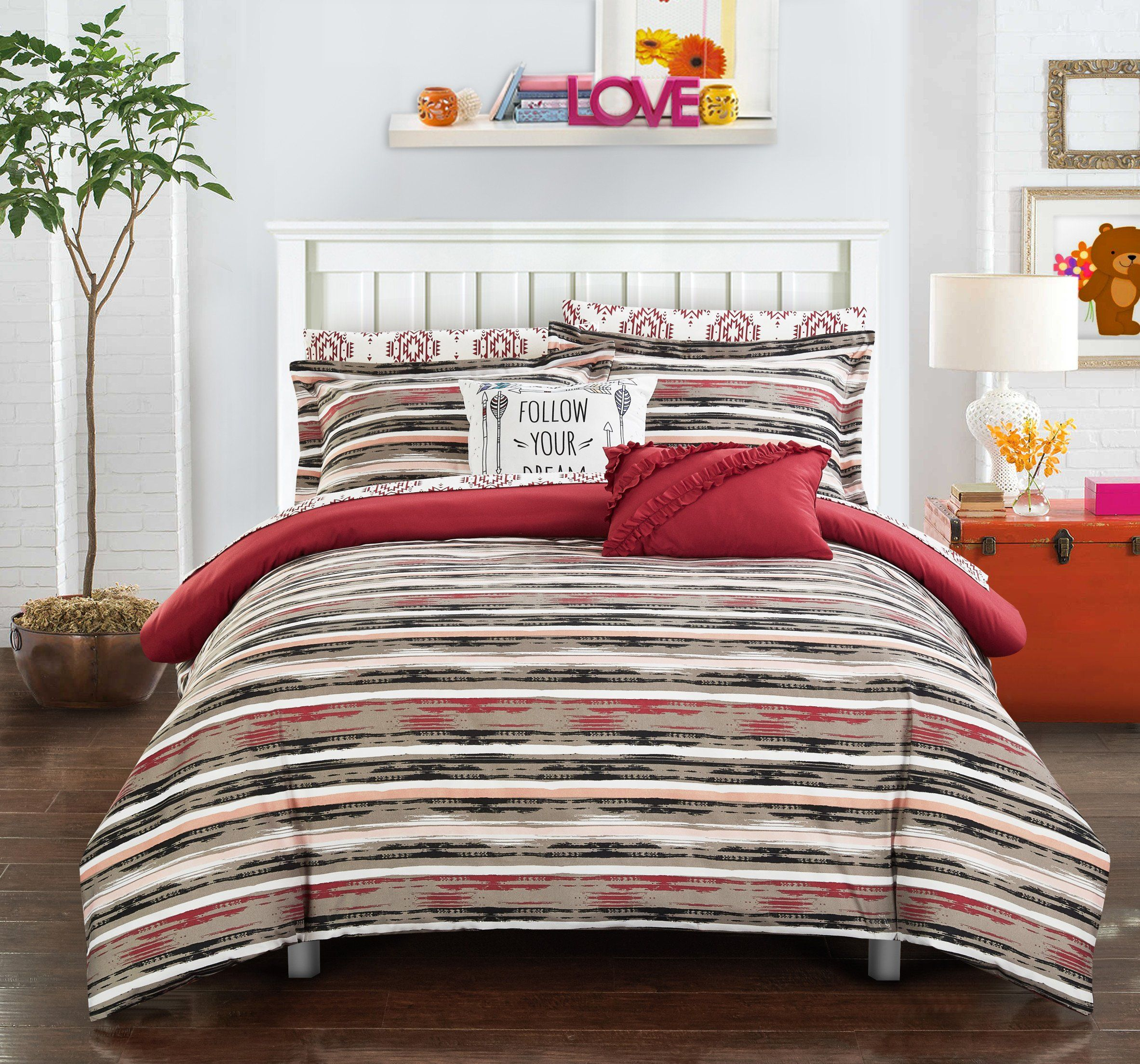 product blooms comforter expressions hei image pc upc king bedding home tan wid modern set floral piece sharpen for coral op