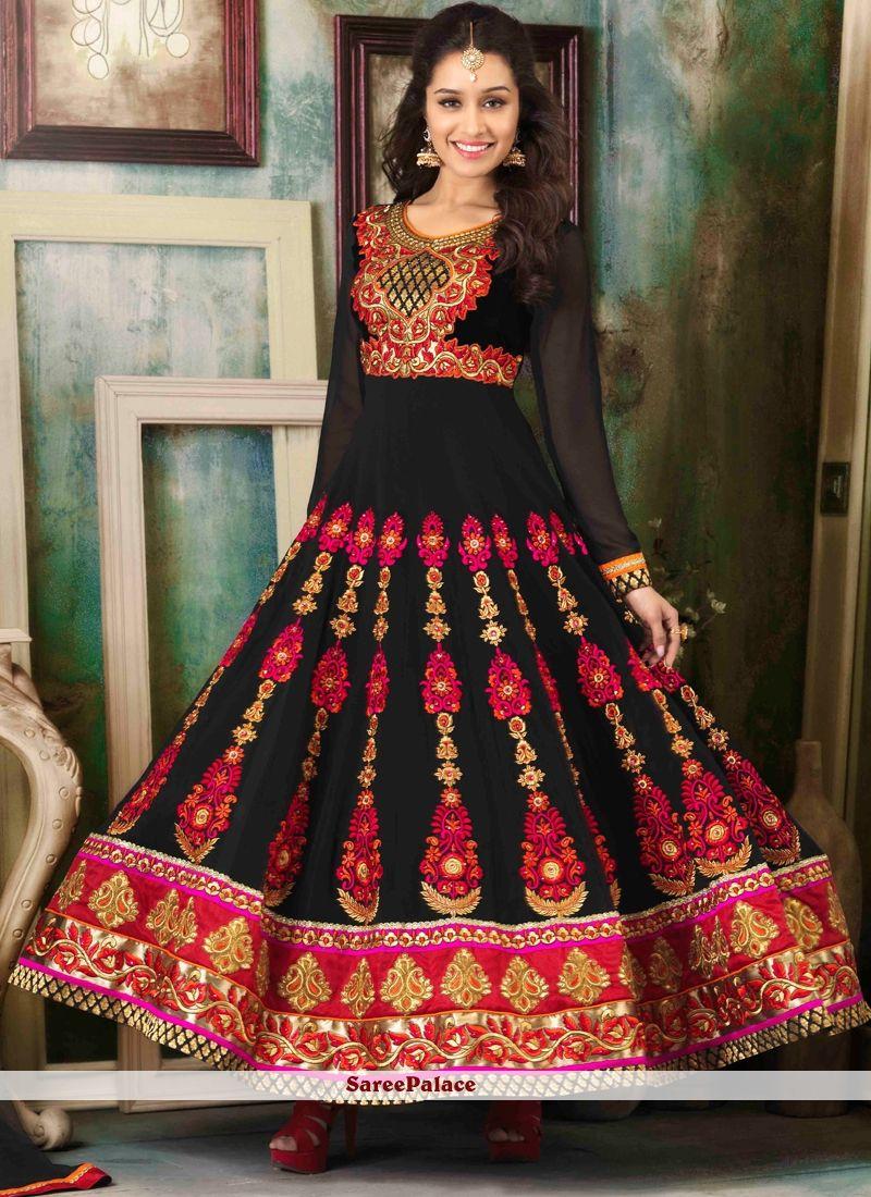 7cd79af7aad Shraddha Kapoor Style Black Anarkali Suit in 2019