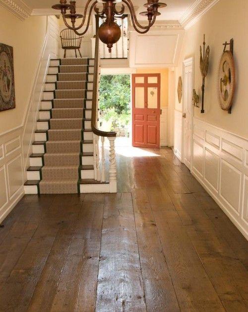Beautiful plank floor in a fantastic federal style house for Hardwood floors hurt feet