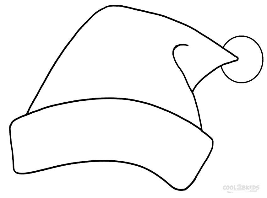 Printable Santa Hat Coloring Pages For Kids Cool2bkids Santa Coloring Pages Printable Christmas Coloring Pages Free Christmas Coloring Pages