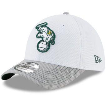 size 40 6793f f3b0f Men s Oakland Athletics New Era White Gray Two-Tone Rapid 39THIRTY Flex Hat
