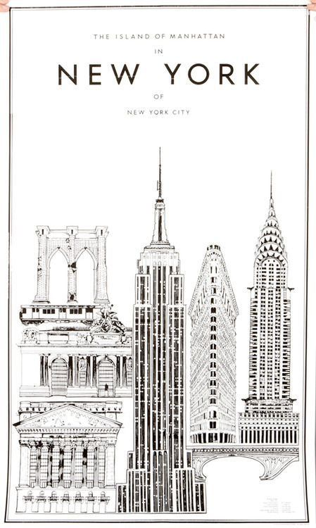 Travel posters · black and white art drawingblack and white postersnew york