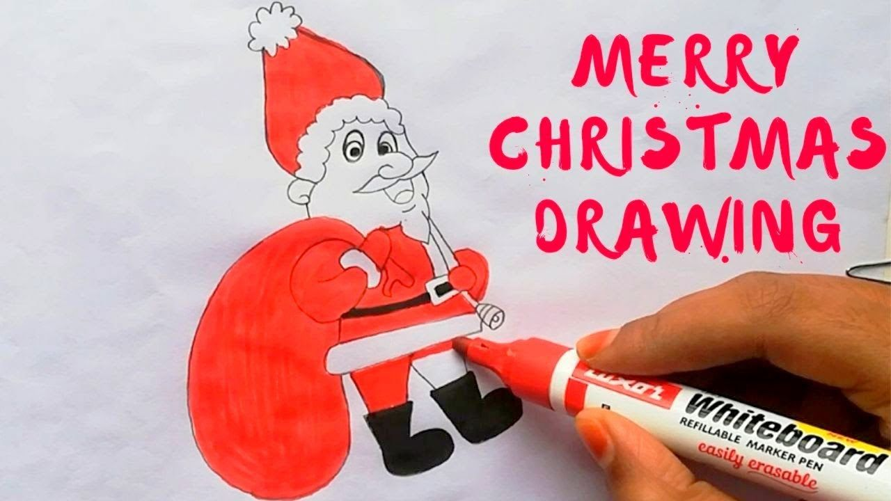 Christmas Drawing How To Draw Easy Way Drawing For Beginner Drawing For Beginners Easy Drawings Christmas Drawing