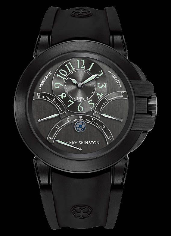 e7614f8298f Modern Black - Harry Winston Ocean Triple Retrograde Chronograph ...