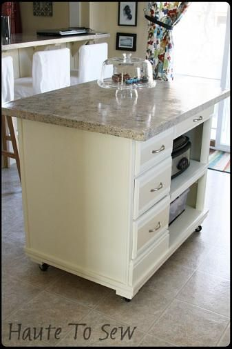 Haute To Sew Kitchen Island DIY Must TRY Pinterest Kitchens