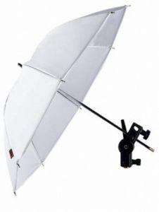 Falcon Eyes UR-60T läpiammuttava valkoinen sateenvarjo.