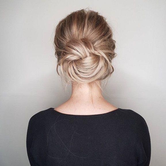 Boho Knot Bun Hairstyle Inspirationbridal Updo Easy Updo