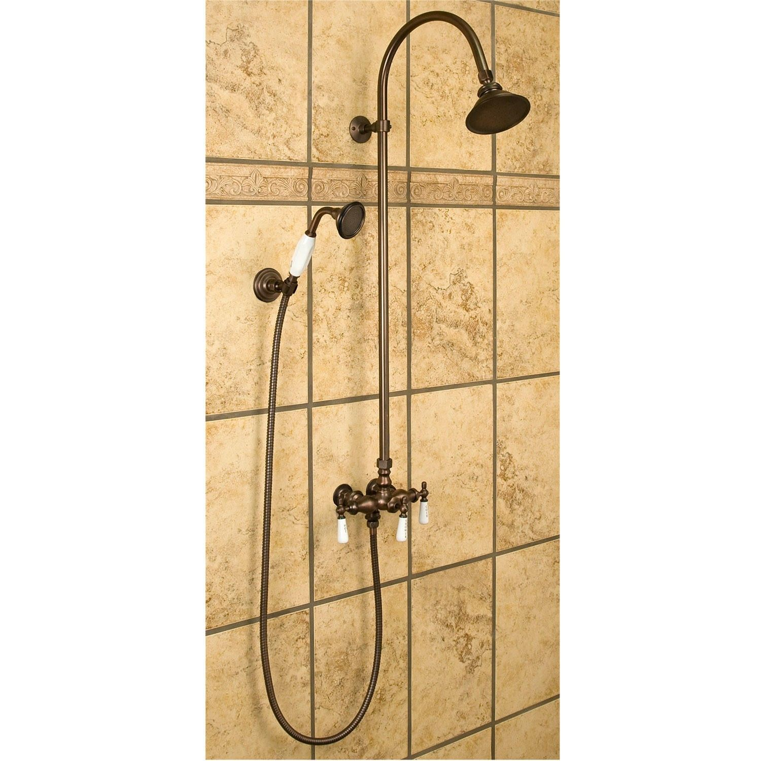 Exposed Pipe Shower With Hand Shower | Pipes, Bath and Shower bathroom